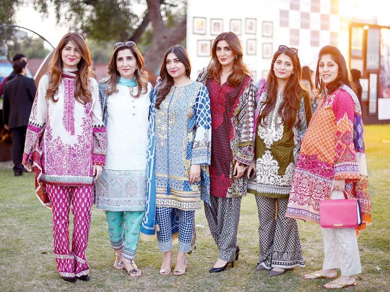 with sana aneela nida khadijah shah and saleeha at a social event