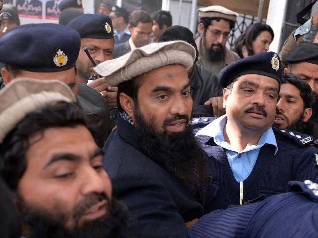 A file photo of Zakiur Rehman Lakhvi. PHOTO: AFP