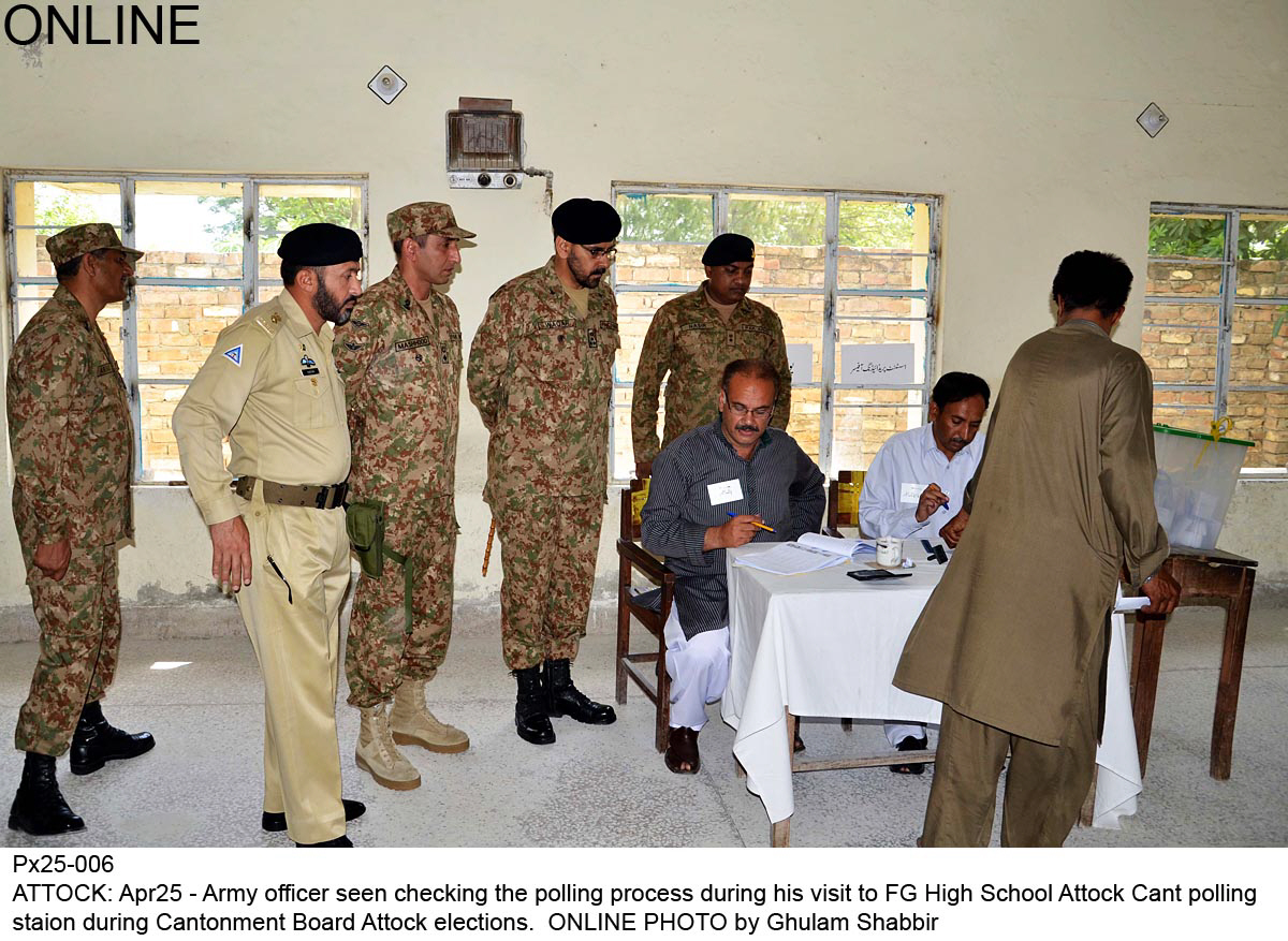 cantonment board polls most voters satisfied with security arrangements