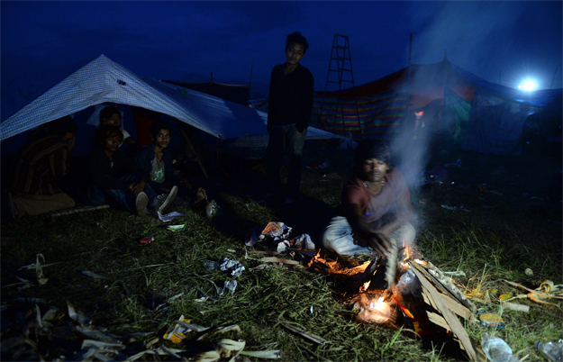 around 90 people have been killed in neighbouring countries including at least 67 in india and 20 in china photo afp