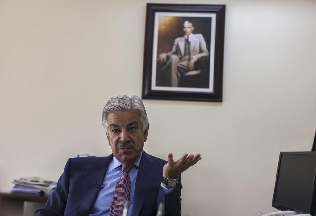 defence minister khawaja asif photo reuters