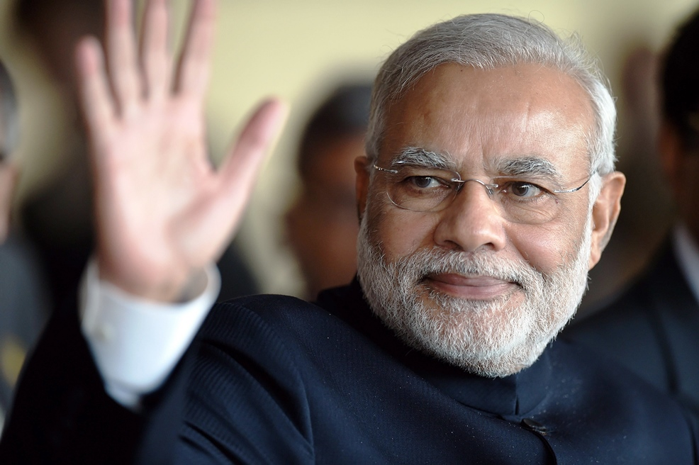 Indian Prime Minister Narendra Modi announced that a decision has been taken to start a Pak-India cricket series to improve relation. PHOTO: AFP