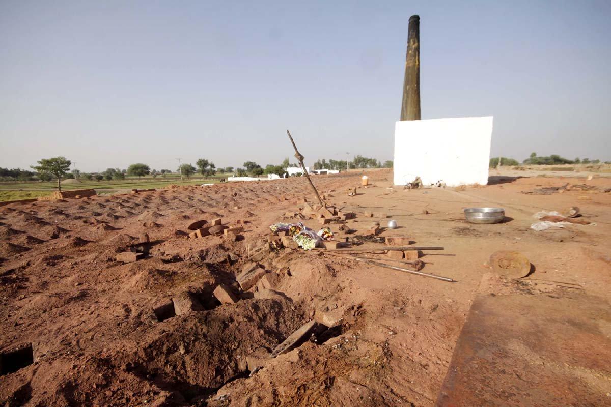 Site of the brick kiln where the Christian couple was burnt to death. PHOTO: SHAFIQ MALIK/EXPRESS