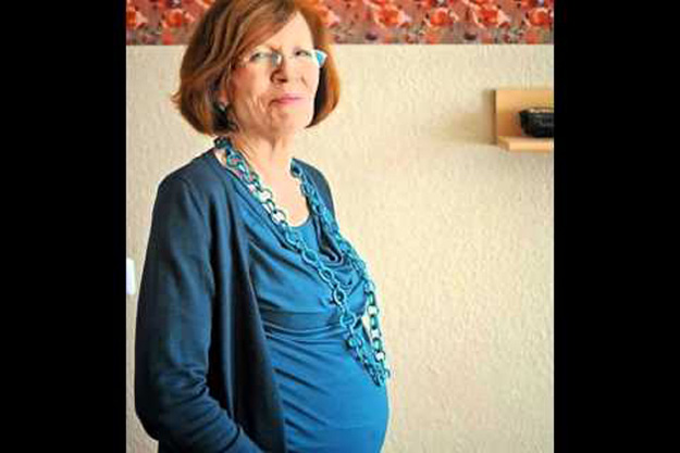 Raunigk, an English and Russian teacher in Berlin, is the oldest woman in the world to have had quadruplets. PHOTO: IBNLIVE