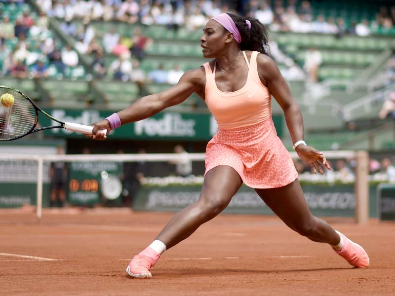 serena who has now won all nine of her meetings with errani was far too powerful for the 2012 french open finalist photo afp