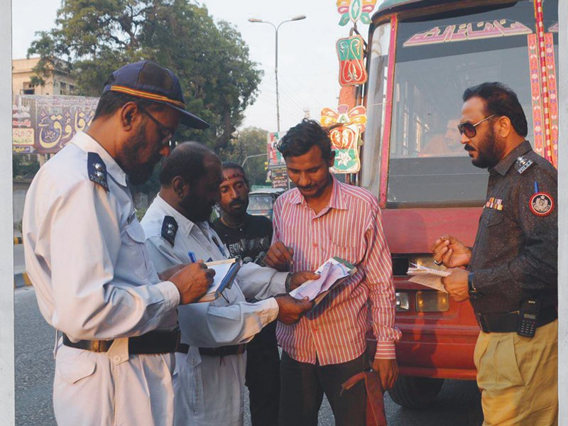 traffic police demands seperate stations photo file