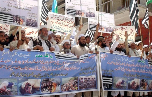 jui f workers protesting against the persecution of rohingyas in myanmar photo inp