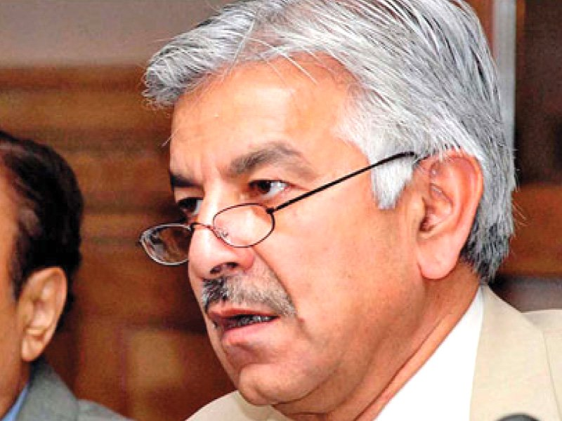 defence minister khawaja asif photo file