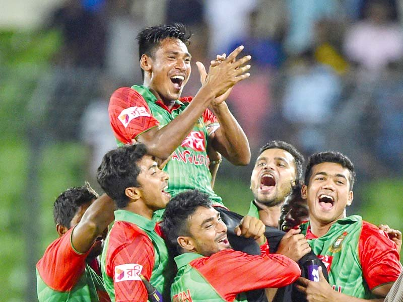 mustafizur s 11 wickets in his first two matches broke zimbabwean seamer brian vitori s record of 10 victims photo afp