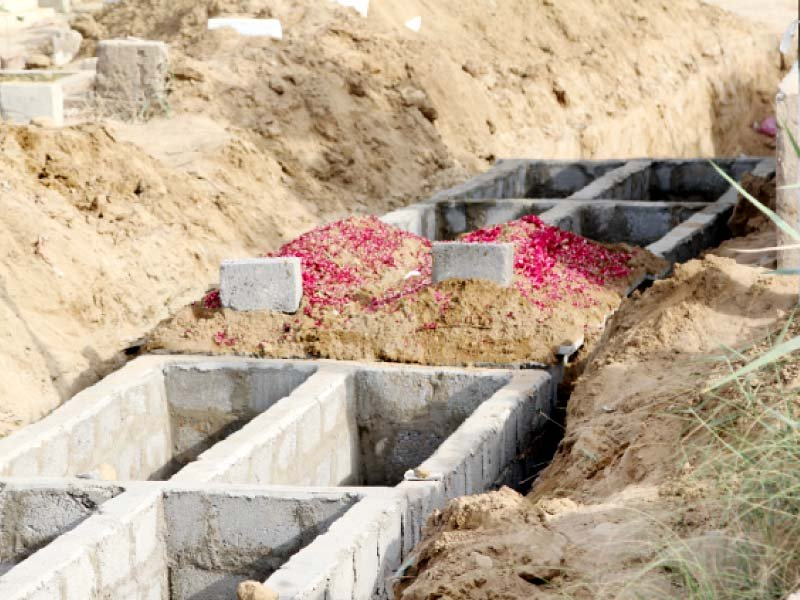 the graveyards in karachi are running out of space but there are still many bodes yet to be buried the recent heatwave claimed the lives of nearly 1 000 people driving the demand for graves and gravediggers up photo aysha saleem express