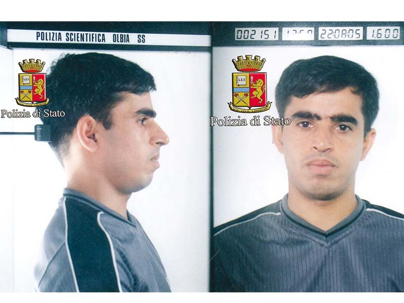 a photo released by the italian police shows siyar khan of pakistan who is detained in rome photo afp