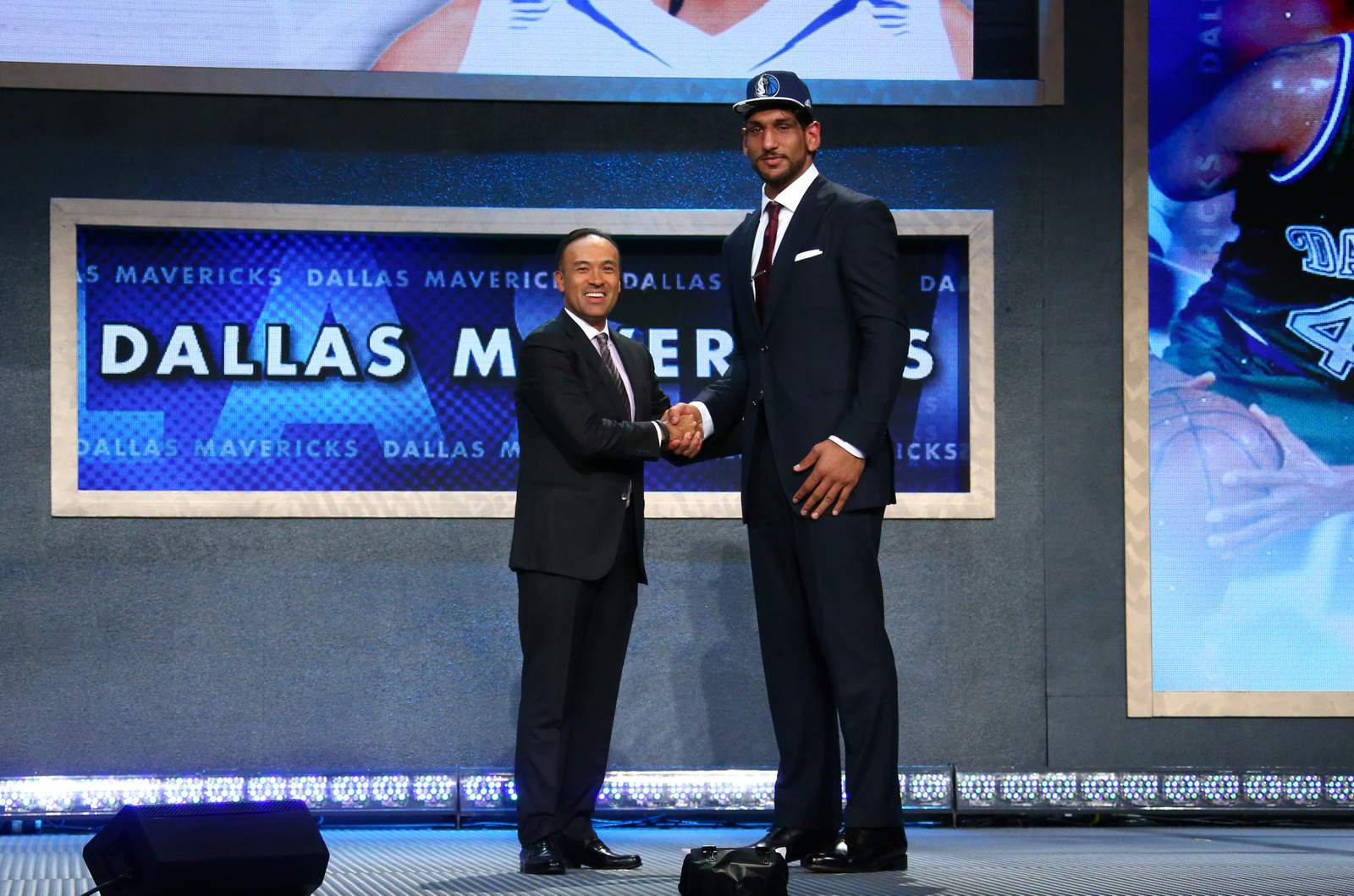 satnam singh r after being picked by the dallas mavericks during the nba draft photo dallas mavericks