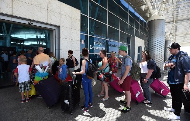 british tourists leave tunisia at the enfidha international airport on june 27 2015 in the aftermath of a shooting attack on the riu imperial marhaba hotel in port el kantaoui photo afp