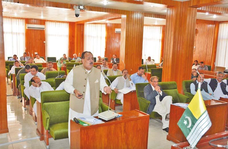 prime minister azad jammu kashmir chaudhry abdul majeed addresses the legislative assembly photo nni