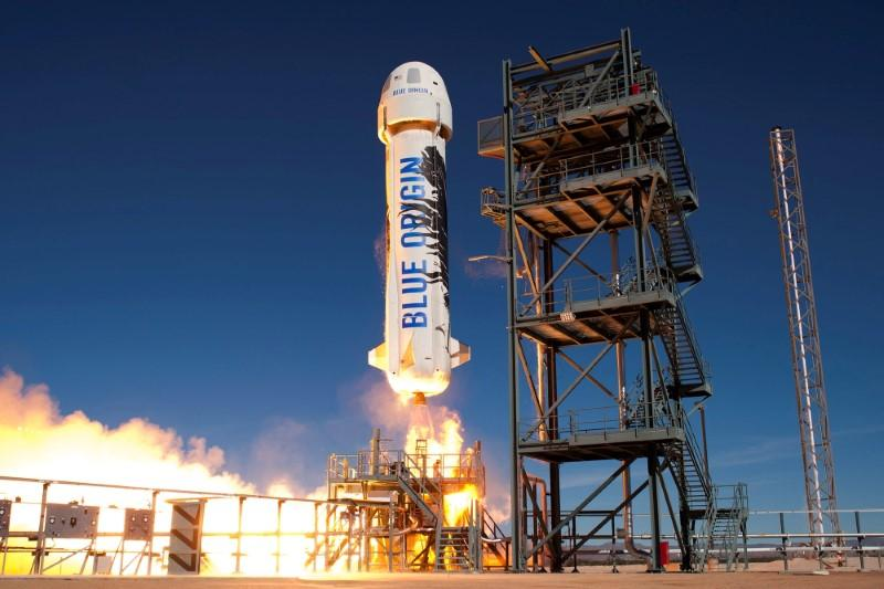 blue origin s new shepard lifts off during a test in van horn texas us in an undated photo photo reuters