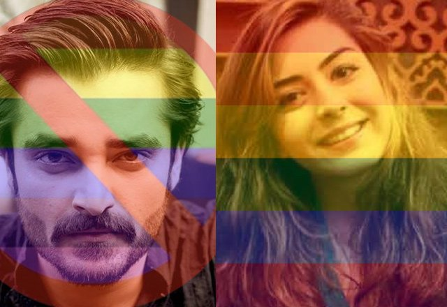 hamza ali abbasi and imaan mazari are at war supporting their stances on legalisation of gay marriages photo file
