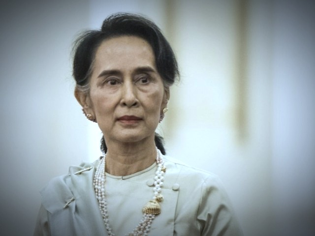 the noble peace prize winner is representing myanmar at the international court of justice photo afp