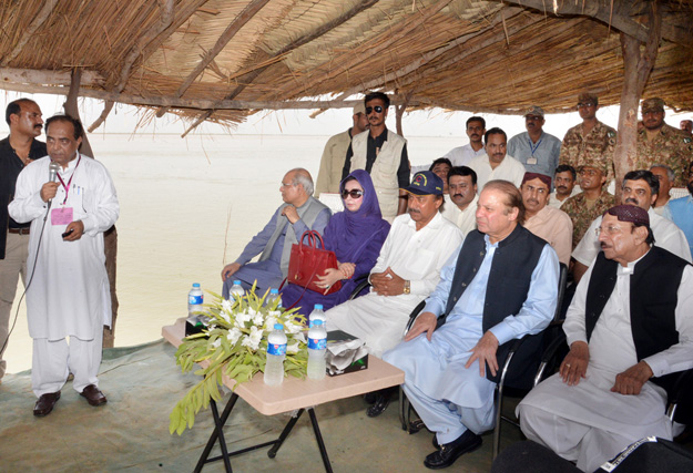 pm pledges rs1b for flood ravaged areas of sindh