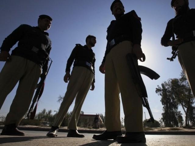 A file photo of Karachi police. PHOTO: REUTERS