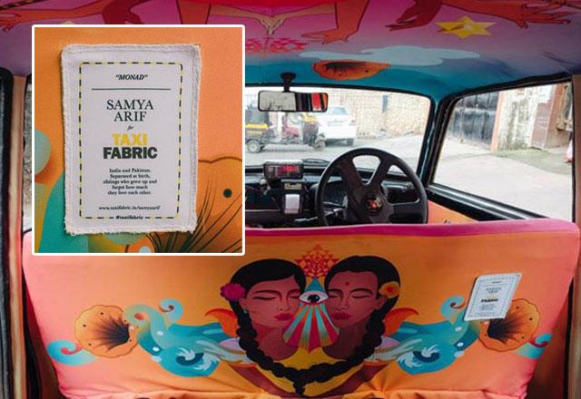 pakistani artist gives mumbai taxi a makeover