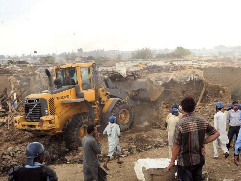 marquee among encroachment razed in islamabad