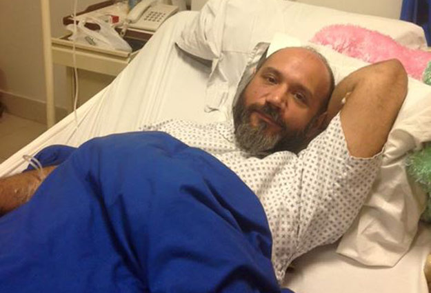 a recovering faizan haqqee greets fans on facebook following accident