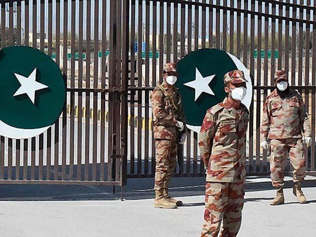 pakistani soldiers wear face masks on the pakistan iran border in taftan photo getty