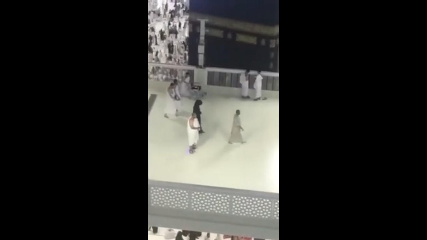 video of pilgrim performing tawaf on hoverboard sparks debate