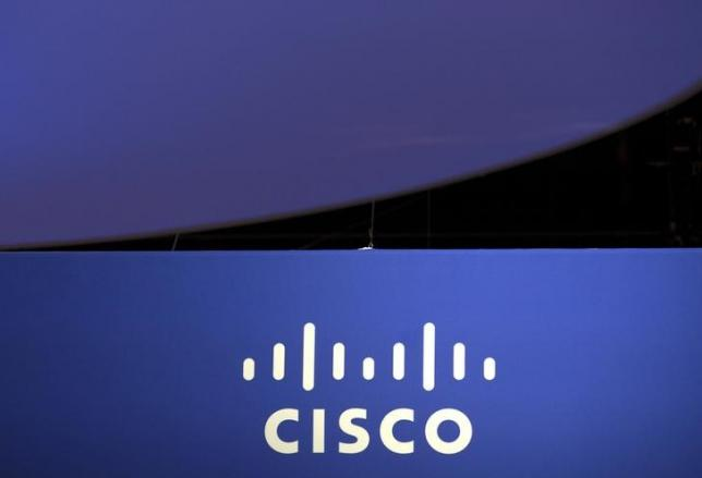 the cisco systems logo is seen as part of a display at a technology conference in chicago illinois may 4 2015 photo reuters