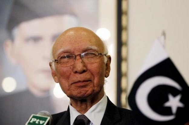 a file photo of nsa adviser sartaj aziz photo reuters