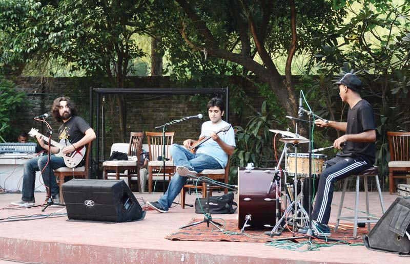 The band not only performed their latest singles but also interacted with the audience. PHOTO: HUMA CHOUDHARY