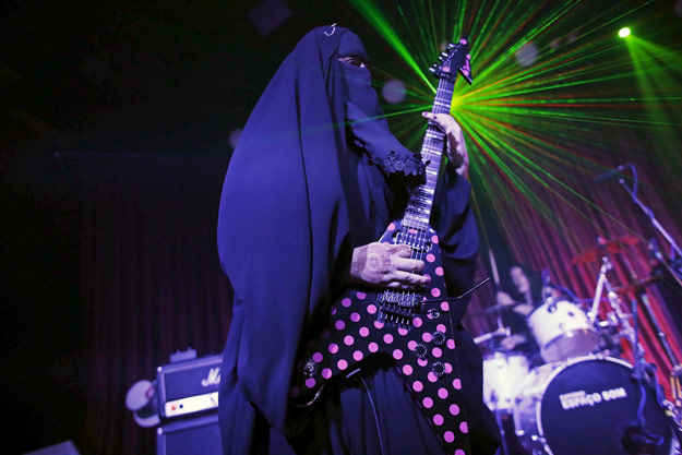 42 year old muslim has been fronting her brothers 039 band 039 spectrus 039 since 2012 photo reuters