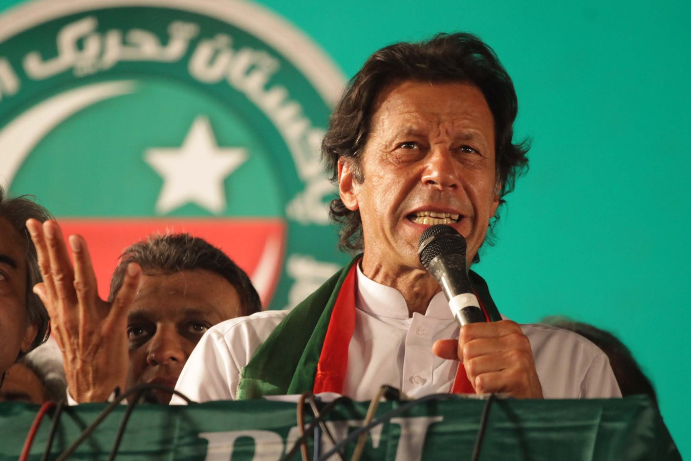 In this file photo, PTI chairman Imran Khan addresses the crowd in Lahore. PHOTO: EXPRESS