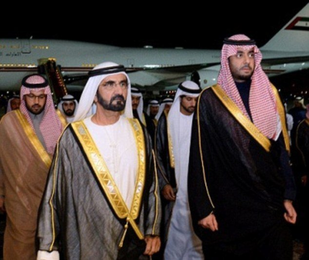 prince majed bin abdullah bin abdulaziz right is named in documents obtained by daily mail online as the saudi arabian prince accused of sexually assaulting a maid and abusing up to four others he is seen with sheikh mohammed the ruler of dubai who he was officially welcoming to saudi arabia after the death of king abdullah