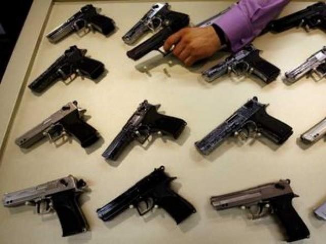 display of weapons gun culture stalks gujranwala