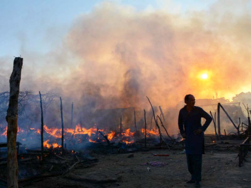 burned alive blaze in shanties claims five lives