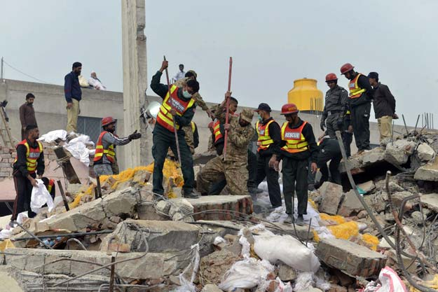 search for lahore factory collapse victims concludes