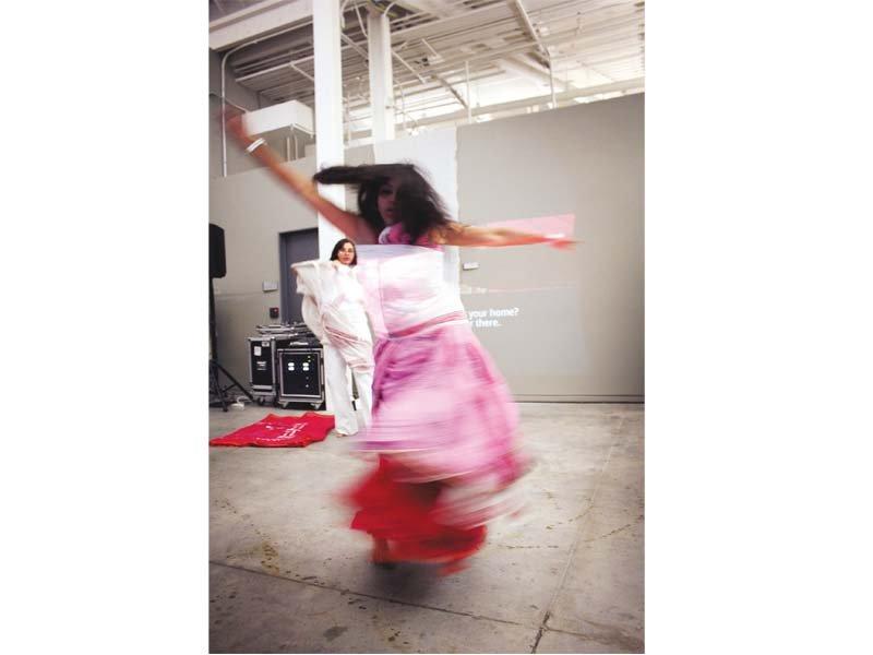 artist monica jahan bose during her performance photo sahar irshad