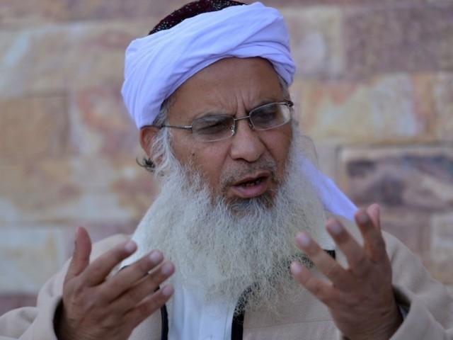 a file photo of lal masjid cleric maulana abdul aziz photo afp
