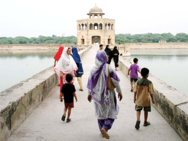 A view of the historic Hiran Minar, a popular tourist spot in Sheikhupura. PHOTO: EXPRESS