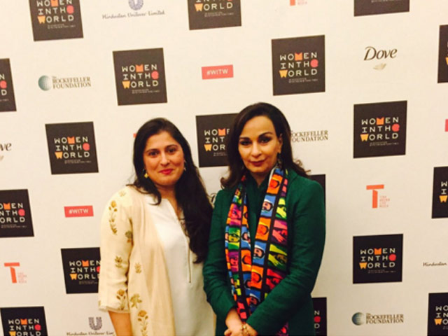 sherry rehman sharmeen obaid represent pakistan at women in the world summit in india