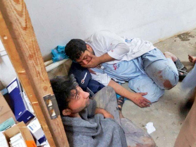 an october 3 air strike on the msf hospital killed at least 22 staff and patients photo afp