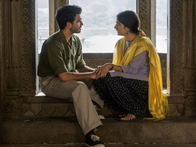 The outrage is over a scene where Tanya Maniktala's character Lata kisses suitor Kabir Durrani in a temple. PHOTO: COURTESY/NETFLIX