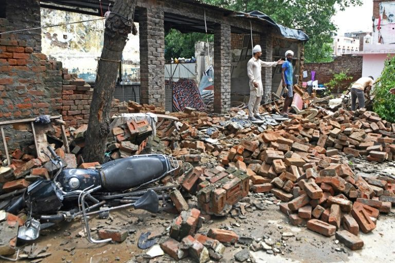 in india s poorest state bihar home to 125 million people 11 have died and at least four million have been affected by heavy rains with homes and villages damaged photo afp