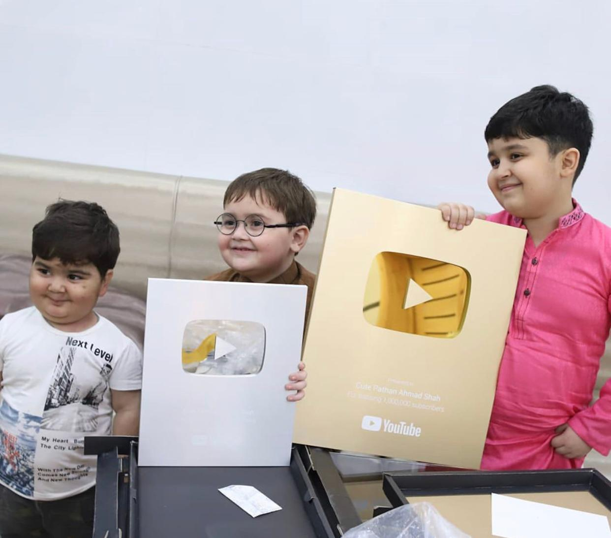 Ahmed Shah becomes youngest Pakistani YouTuber to receive Gold ...