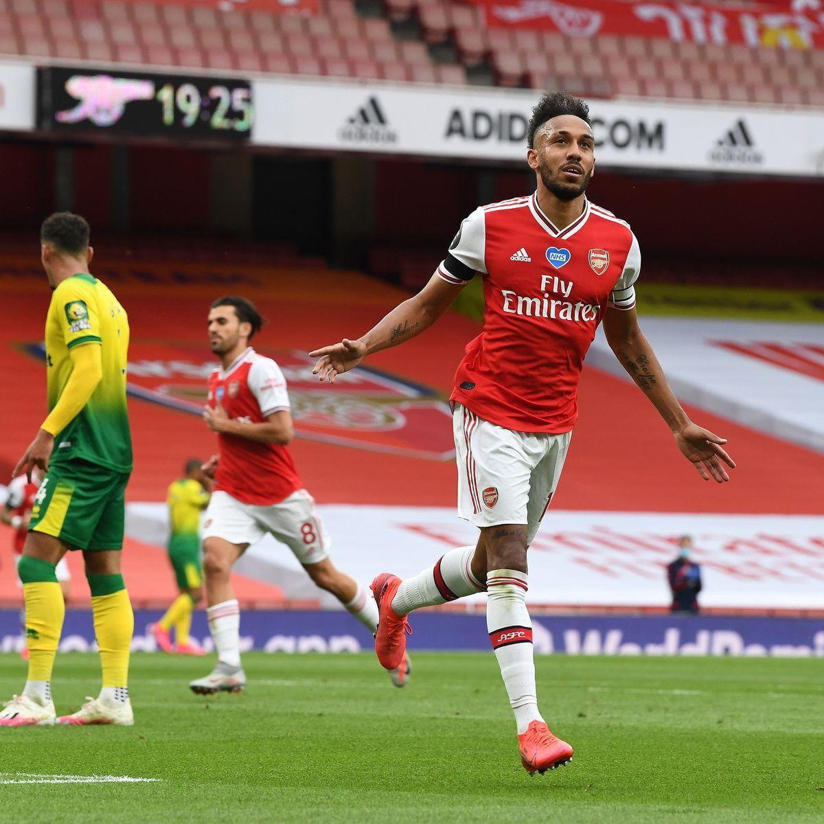 Auba scores 50th goal in Arsenal win