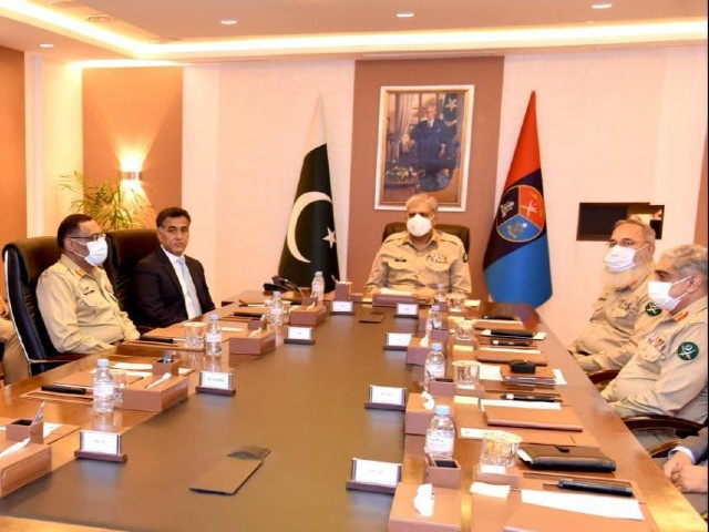 COAS visits  ISI headquarters