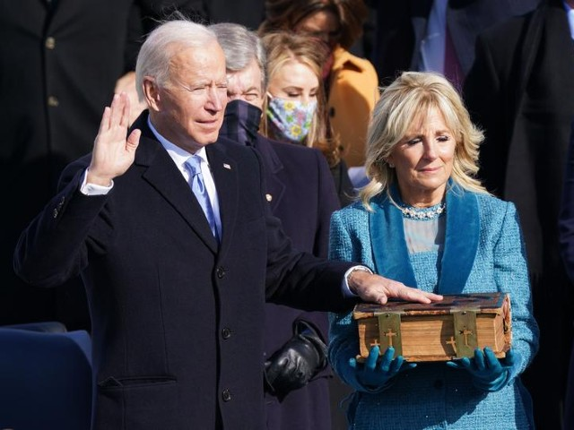 joe biden is sworn in as the 46th president of the united states on the west front of the us capitol in washington us january 20 2021 photo reuters