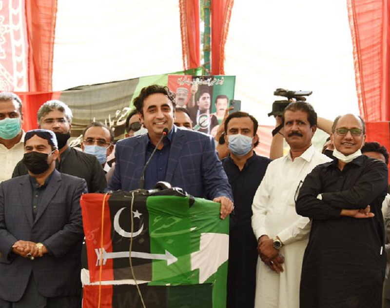 ppp chairman bilawal bhutto zardari addressing party workers in karachi photo twitter mediacellppp