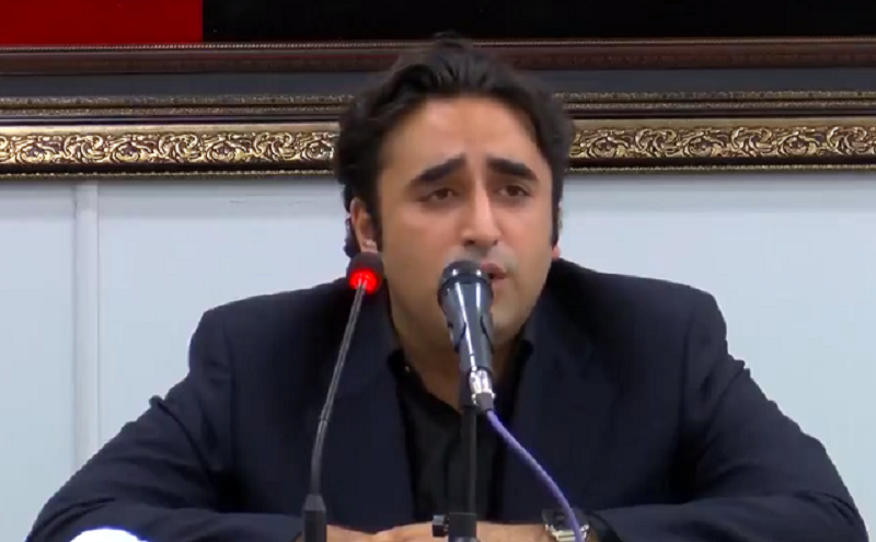 ppp chairman bilawal bhutto addressing a press conference in karachi screengrab